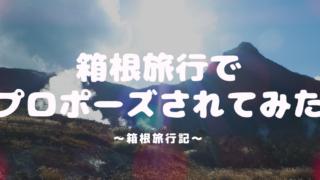 箱根旅行でプロポーズされてみた!